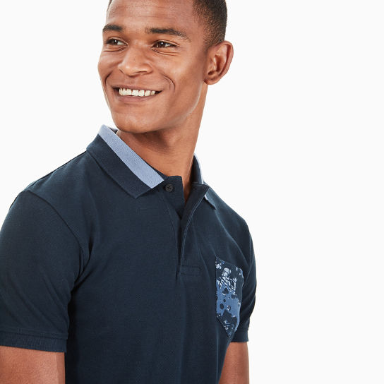 Print piqué Polo Shirt for Men in Navy | Timberland