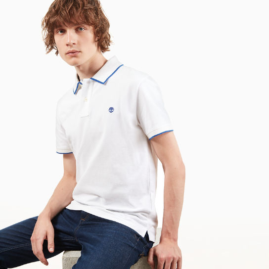 Tipped Piqué Polo Shirt for Men in White | Timberland