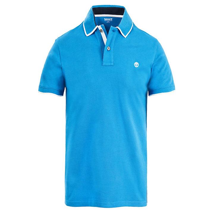Tipped Piqué Poloshirt voor Heren in Blauw-