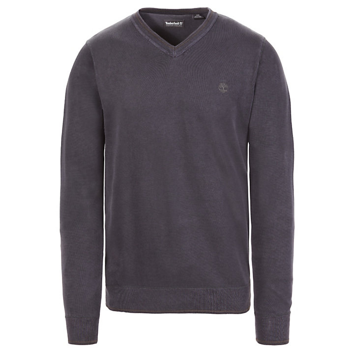 Souhegan River V-neck Sweatshirt voor Heren in Donkergrijs-