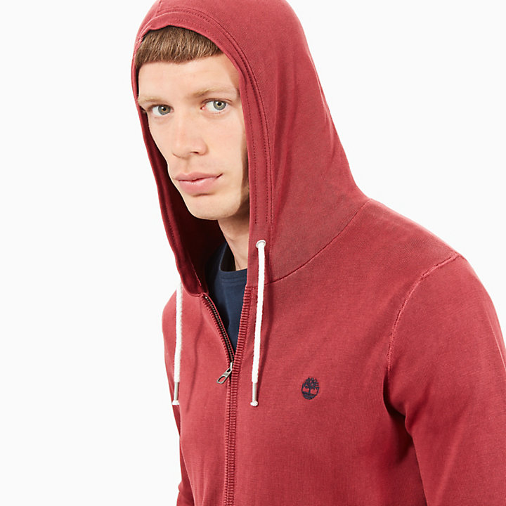 Souhegan River Hoodie for Men in Red-
