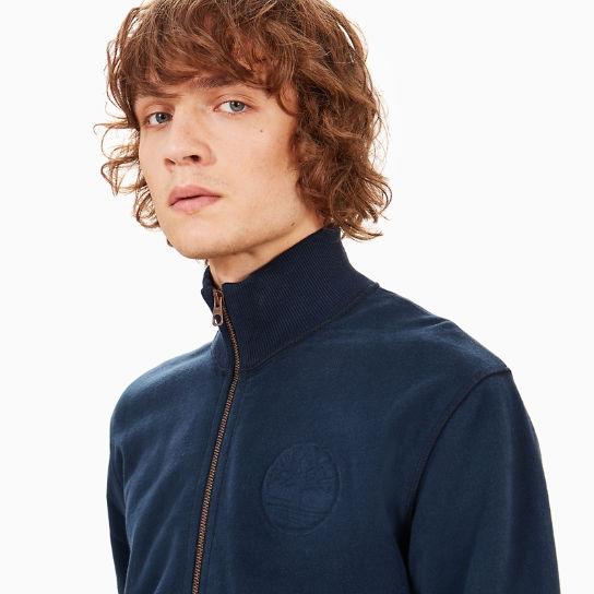 Taylor River Zipped Sweatshirt for Men in Navy | Timberland