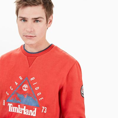 Scar+Ridge+Sweatshirt+for+Men+in+Red