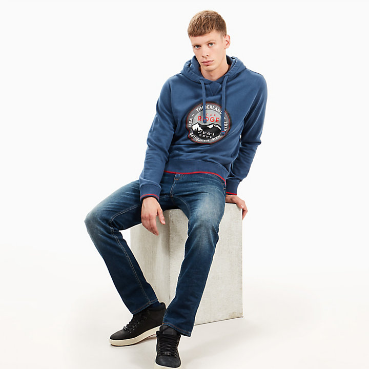 Scar Ridge Hoodie for Men in Navy-