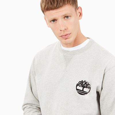 Heritage+Crew+Neck+Sweatshirt+for+Men+in+Grey