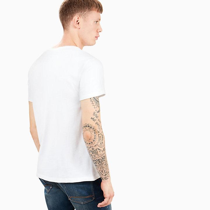 Camiseta Israel River para Hombre en Blanco-