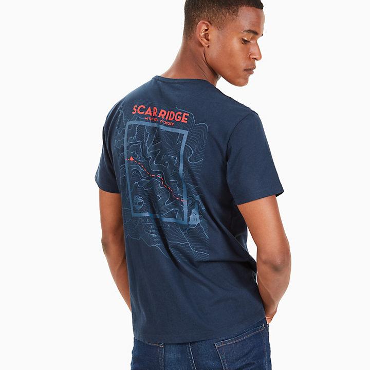 Scar Ridge Badge T-shirt voor Heren in Marineblauw-