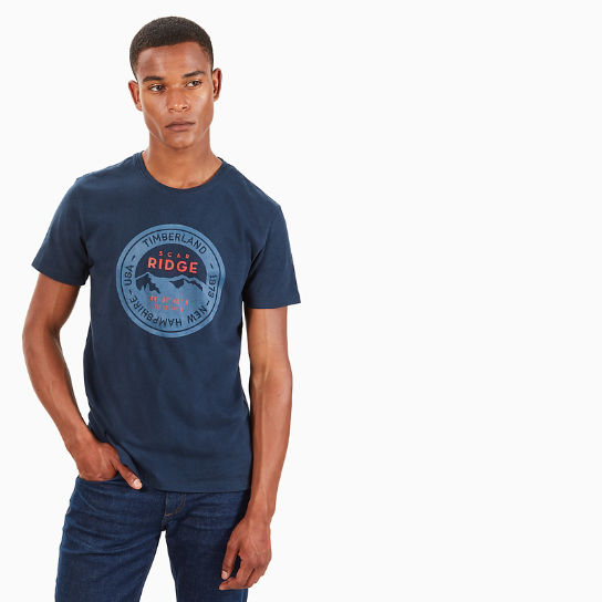 Scar Ridge Badge T-Shirt for Men in Navy | Timberland