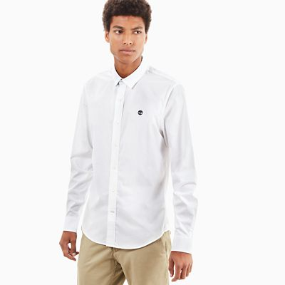 Suncook+River+Poplin+Shirt+voor+Heren+in+Wit