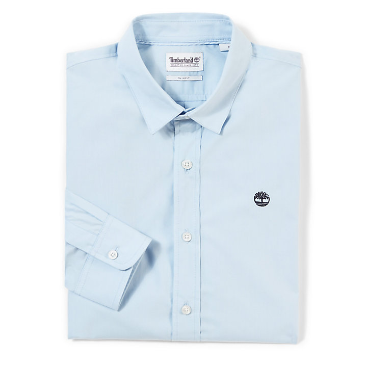 Suncook River Poplin Shirt voor Heren in Blauw-