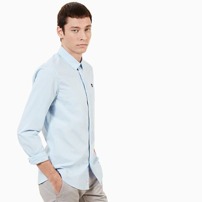 Suncook+River+Poplin+Shirt+for+Men+in+Blue