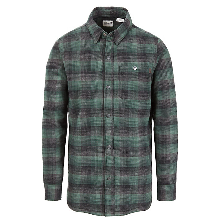 Mascoma River Overshirt for Men in Green-