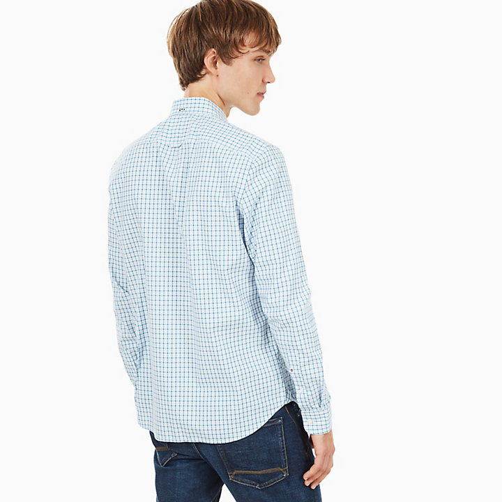 Suncook River Gingham Shirt for Men in Light Blue-