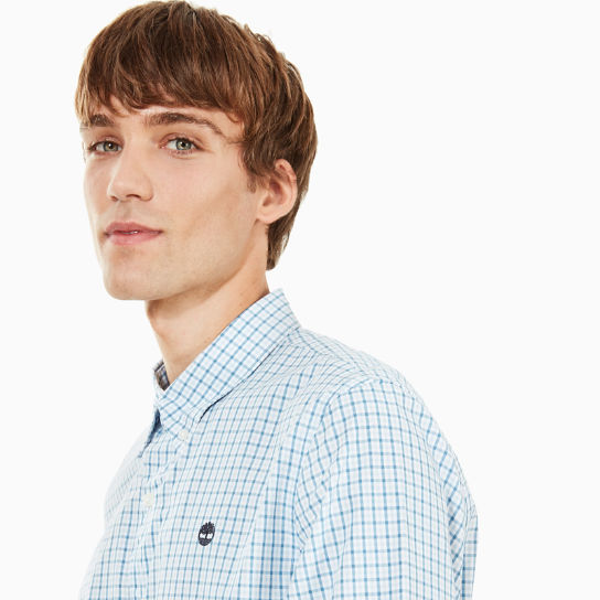 Suncook River Gingham Shirt for Men in Light Blue | Timberland