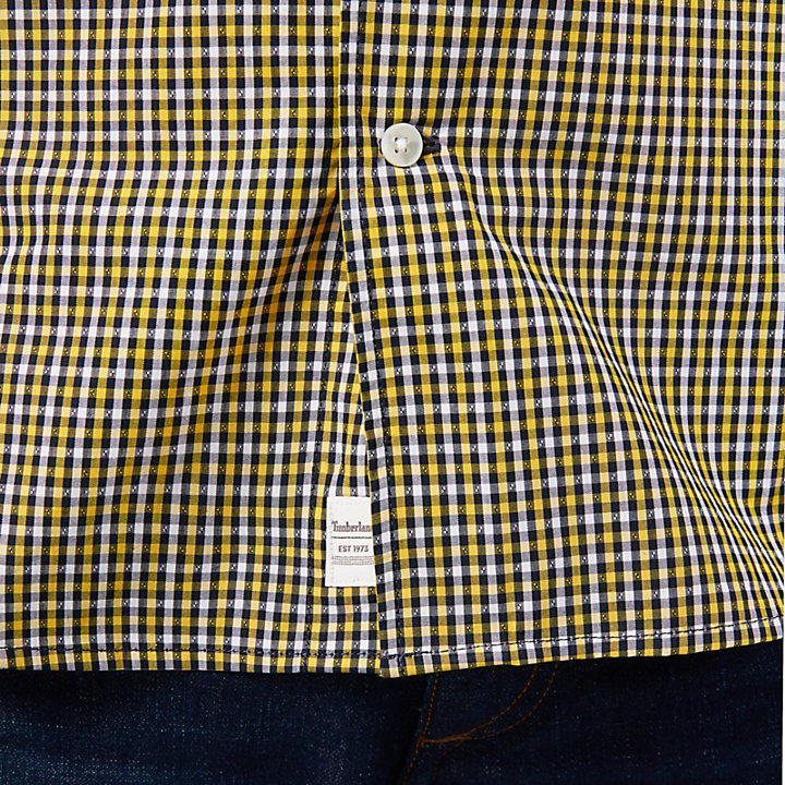 Suncook River Gingham Shirt for Men in Yellow-