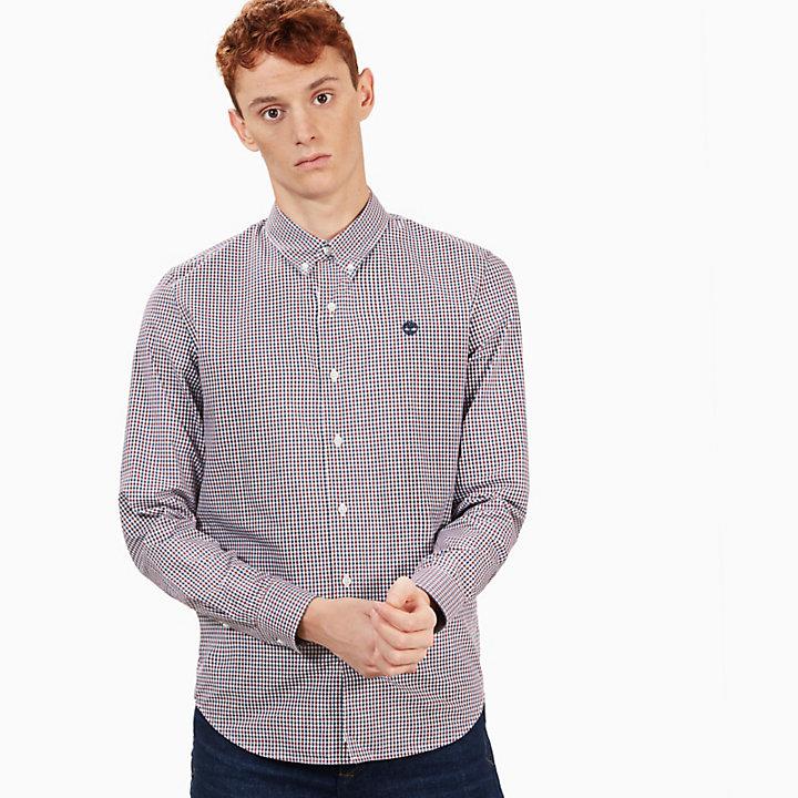Camisa Gingham Suncook River para Homem em Burgundi-