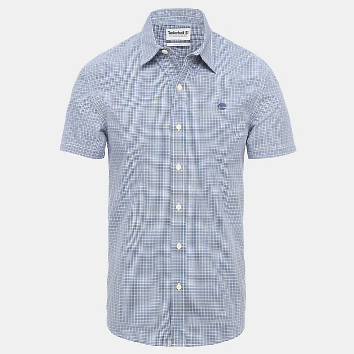 Indian River Mini Check Shirt for Men in Navy-