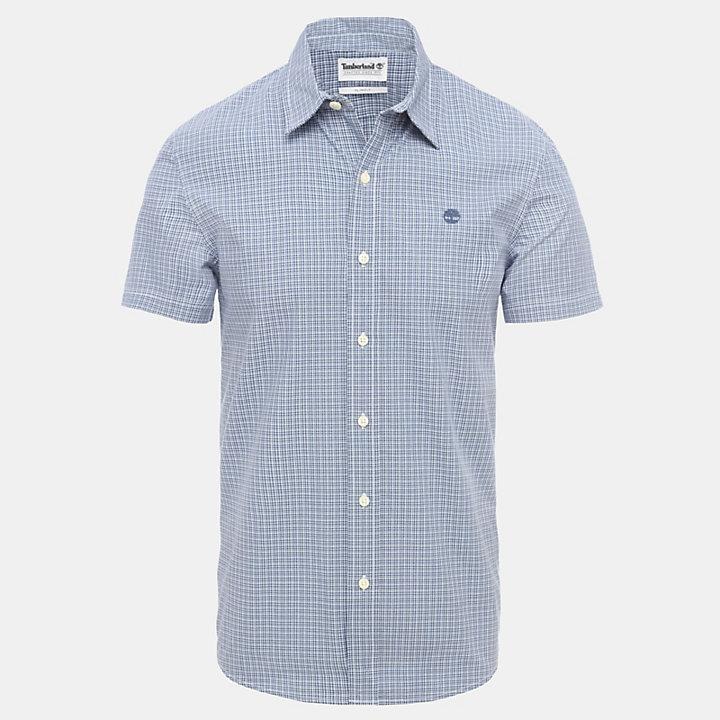 Overhemd met Fijne Ruit voor Heren in marineblauw-