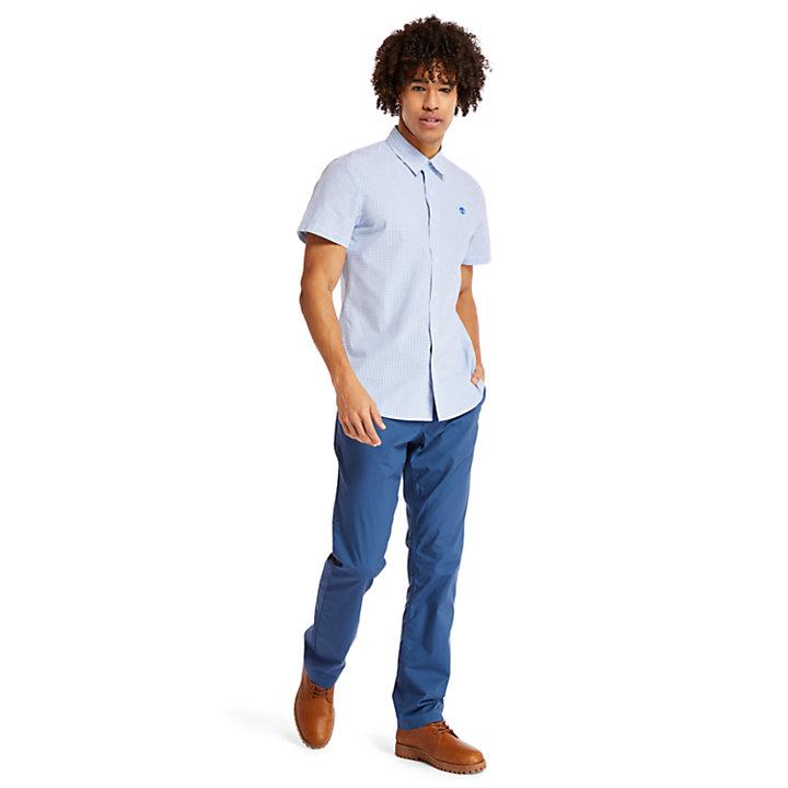 Camicia a Quadretti da Uomo Indian River in blu-
