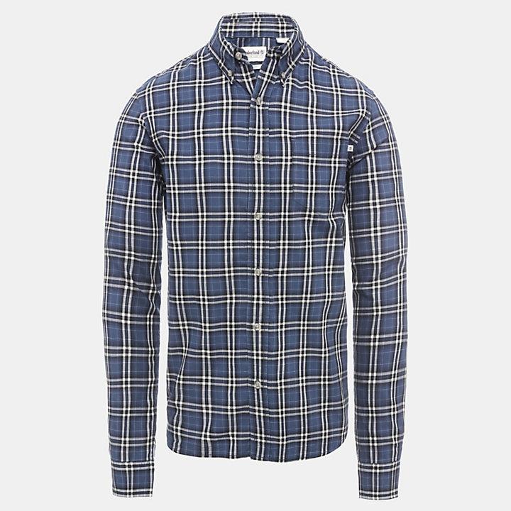Camisa de Algodón a Cuadros Spicket River para Hombre en azul marino-