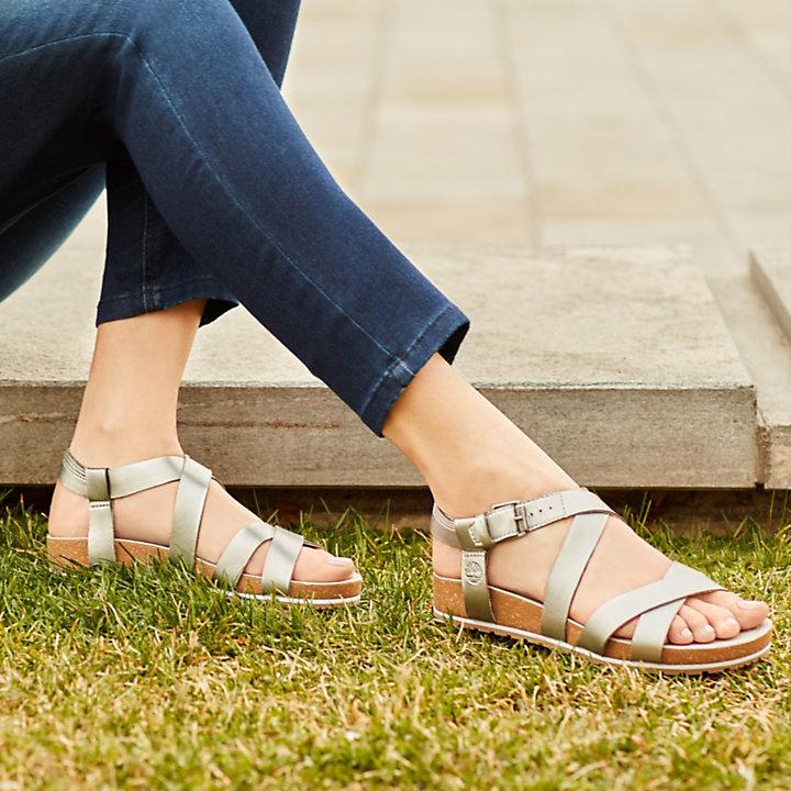 1199b6ab61b5 Women's Malibu Waves Ankle Strap Sandal Silver