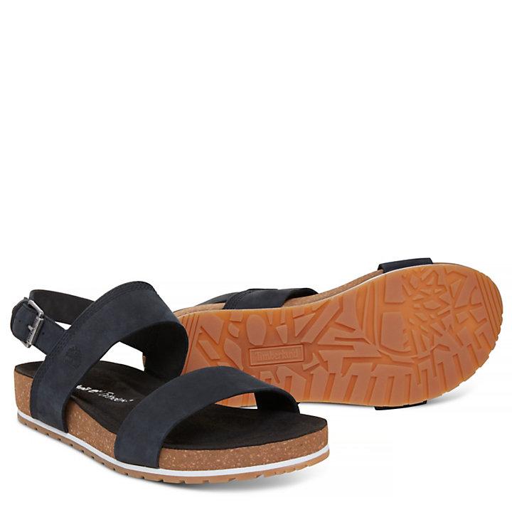 Malibu Waves Two Strap Sandal Zwart Dames-
