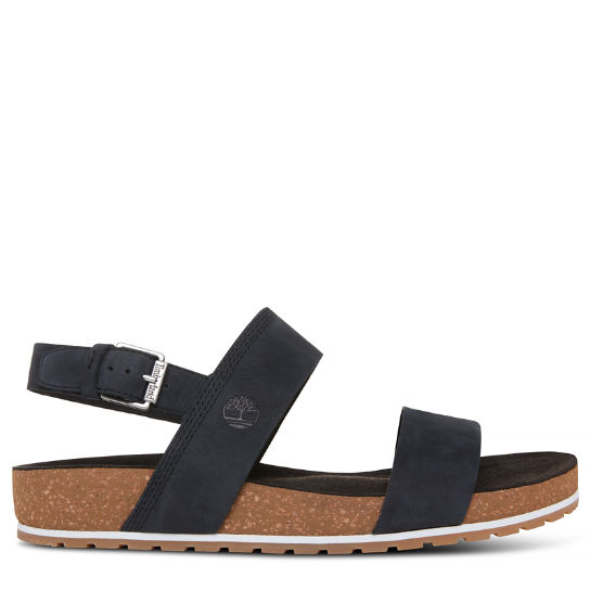Malibu Waves Two Strap Sandal Zwart Dames | Timberland