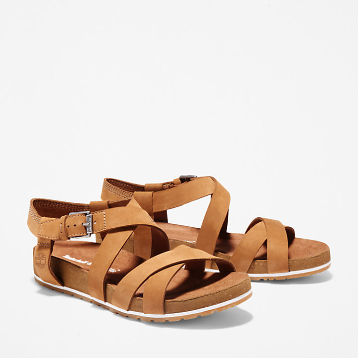 Malibu Waves Strap Sandal for Women in Light Brown-