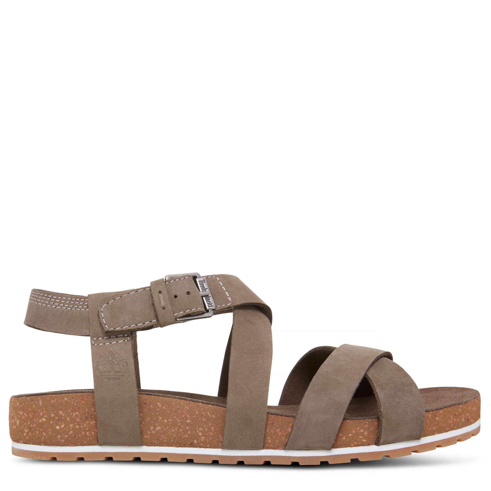 Timberland Women's Malibu Waves Ankle Strap Sandal Greige at