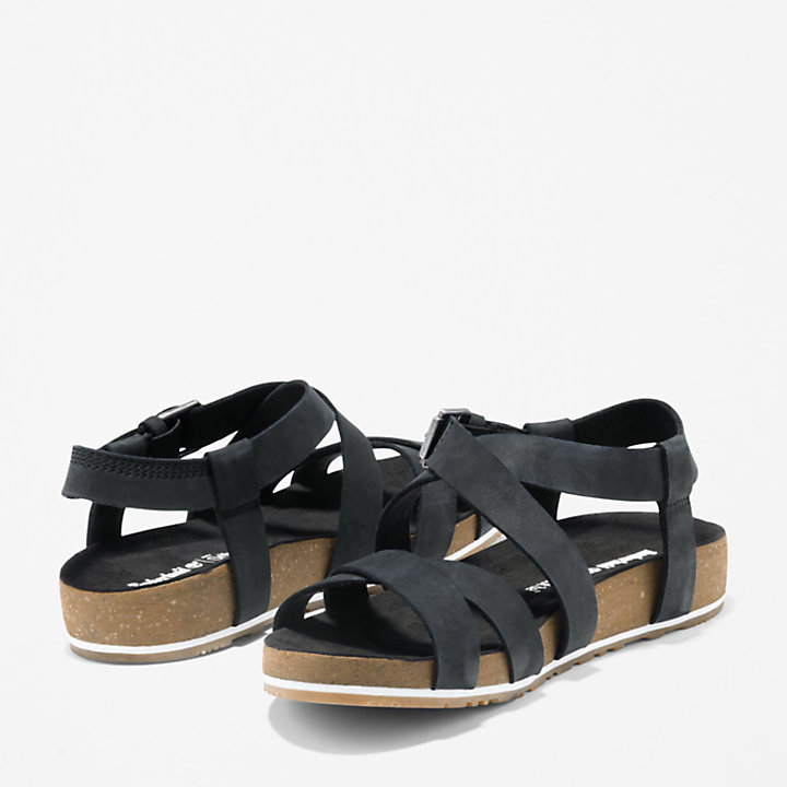 Malibu Waves Strap Sandal for Women in Black-