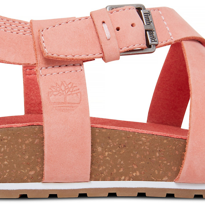 Women's Malibu Waves Ankle Strap Sandal Pink-