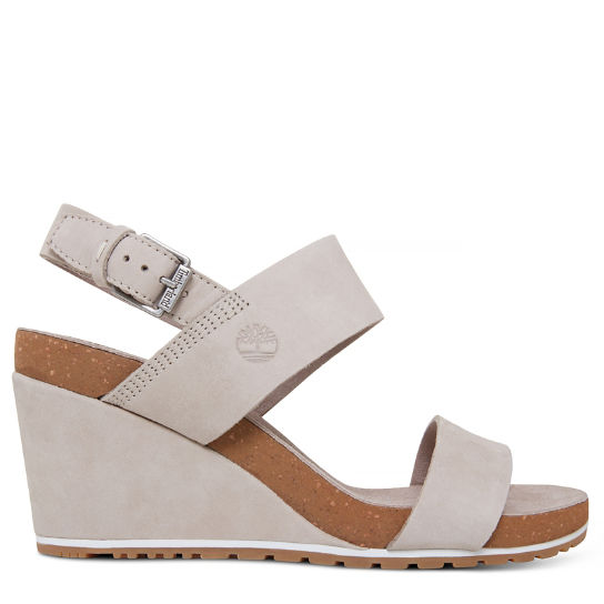 Damen Capri Sunset Wedge Sandal Beige | Timberland
