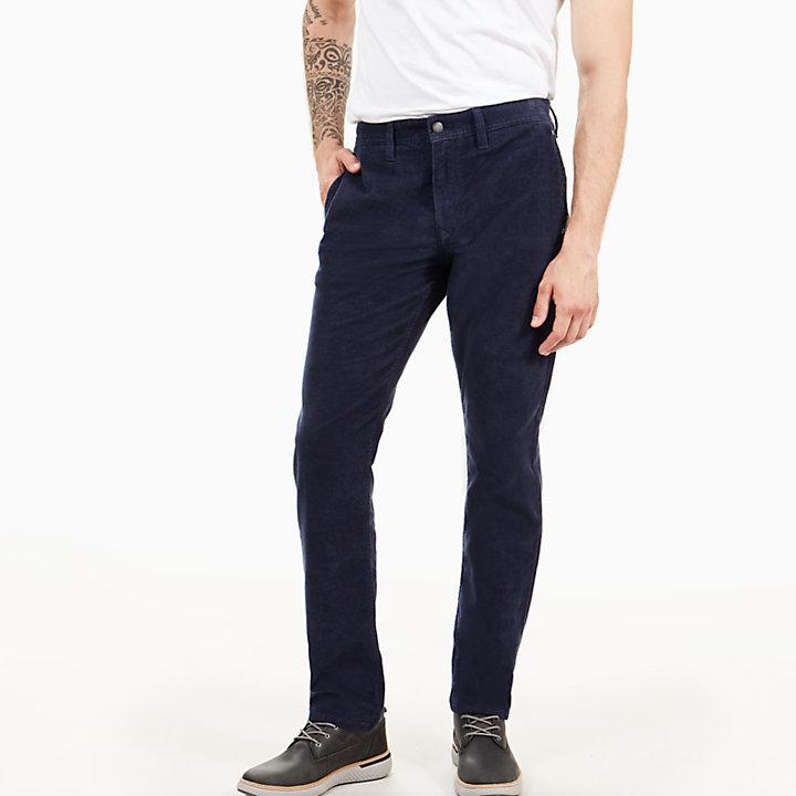 pantalon en velours c tel squam lake pour homme en bleu. Black Bedroom Furniture Sets. Home Design Ideas