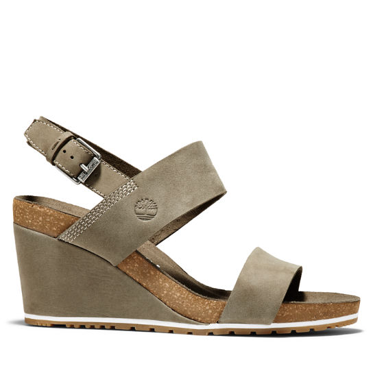 Women's Capri Sunset Wedge Sandal Greige | Timberland