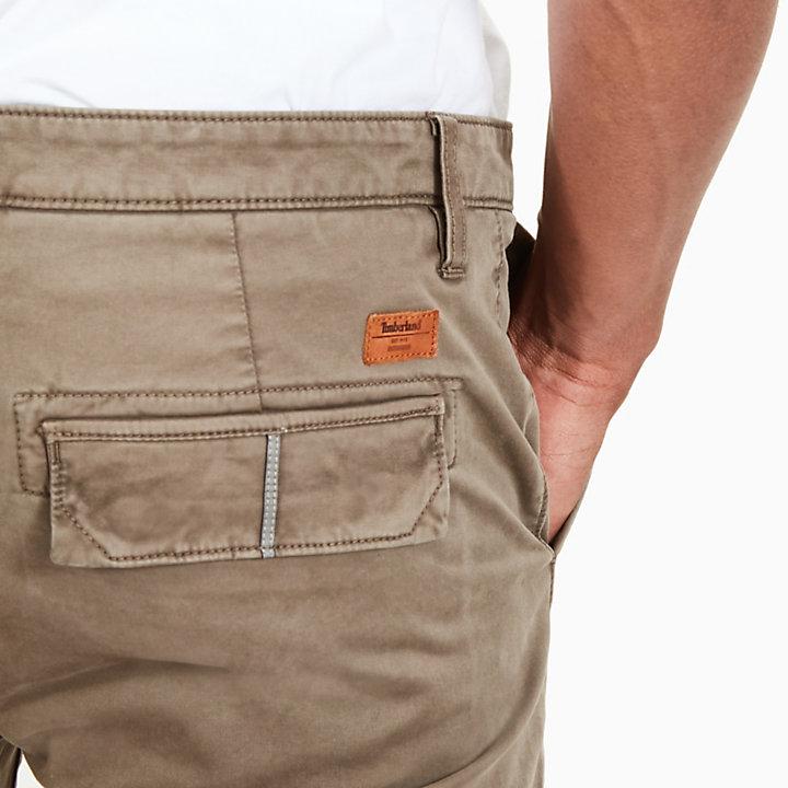 Pantalón Cargo Entallado para Hombre en Beis Grisáceo-