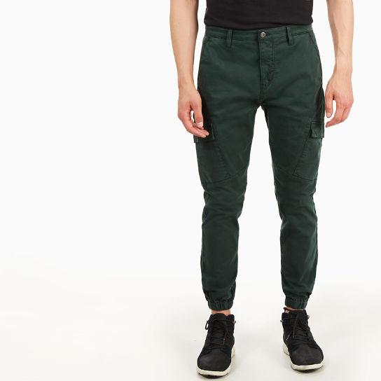 Tapered Cargo Trousers for Men in Dark Green | Timberland