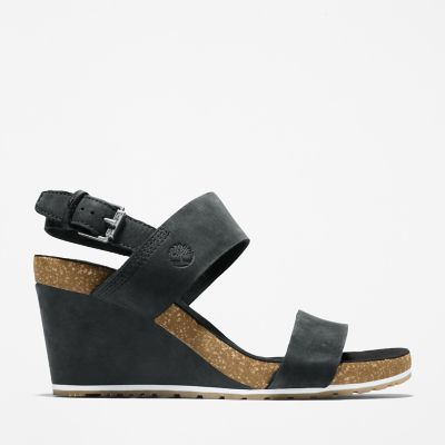 Capri+Sunset+Wedge+Sandal+for+Women+in+Black