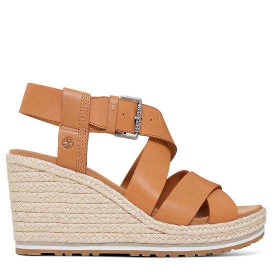 Women's Nice Coast Cross Strap Sandal Yellow | Timberland