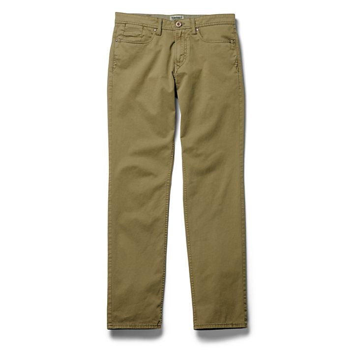 Sargent Lake Stretch Trousers for Men in Dark Green-
