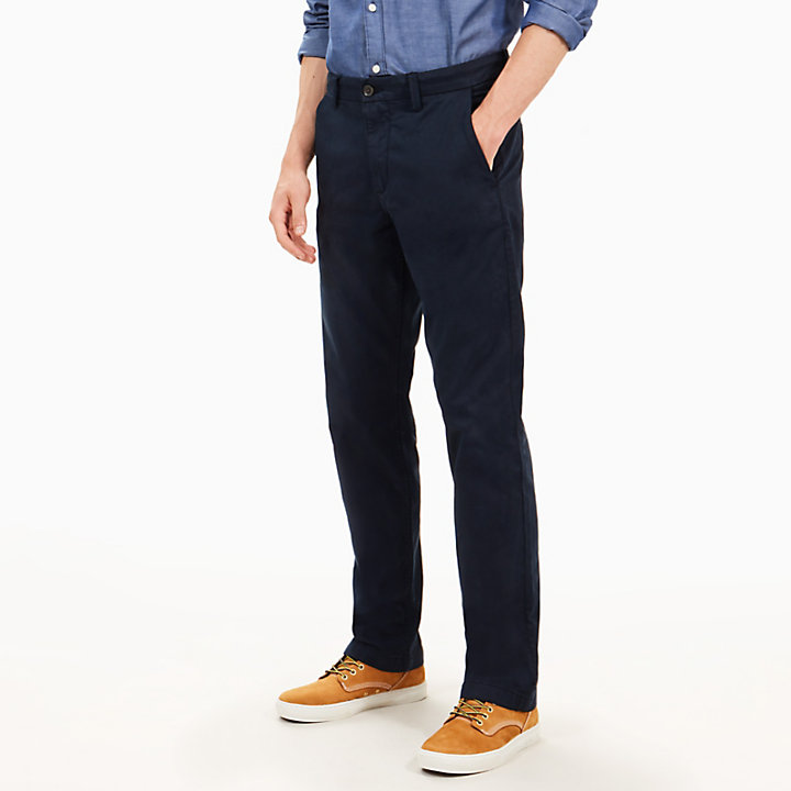 Squam Lake Twill Chinos for Men in Navy