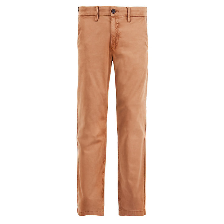 Squam Lake Twill Chinos for Men in Brown-