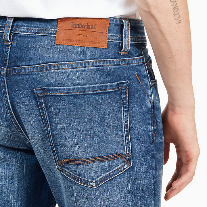 Squam Lake Jeans for Men in Worn-in Blue-