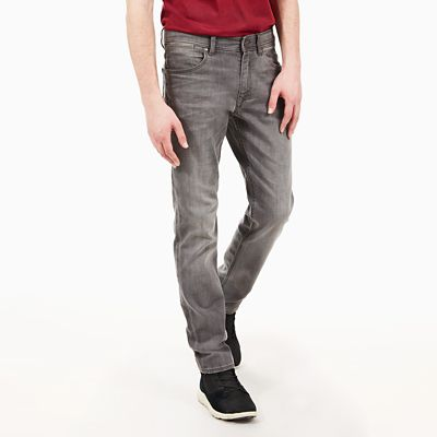Sargent+Lake+Washed+Denim+Jeans+f%C3%BCr+Herren+in+Grau