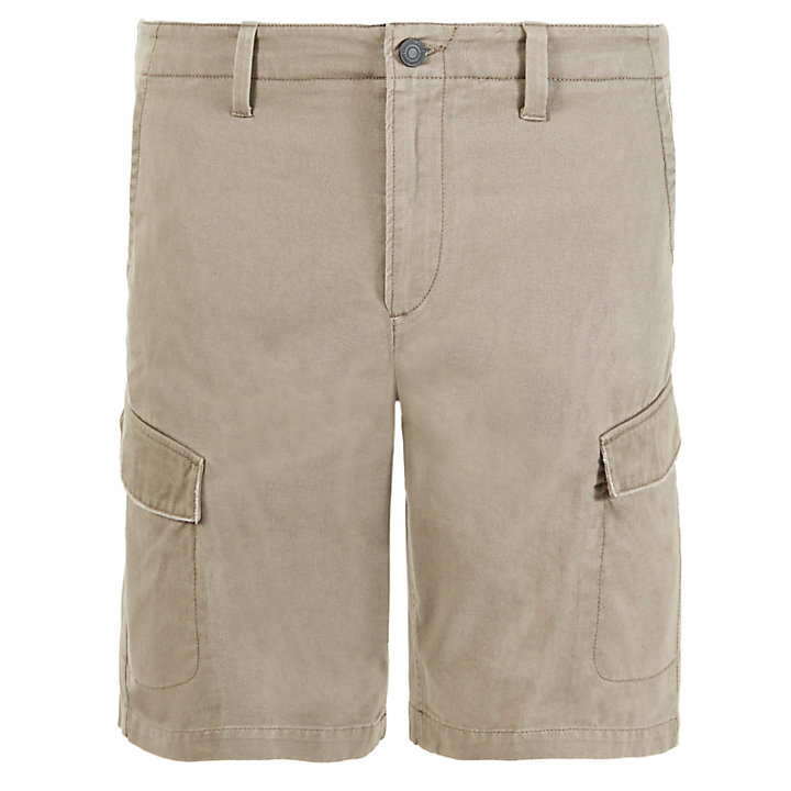 Short cargo Webster Lake pour homme en écru-