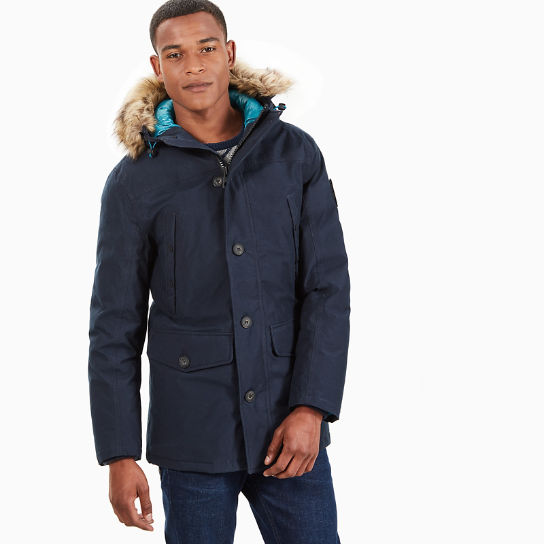 parka scar ridge pour homme en bleu marine timberland. Black Bedroom Furniture Sets. Home Design Ideas
