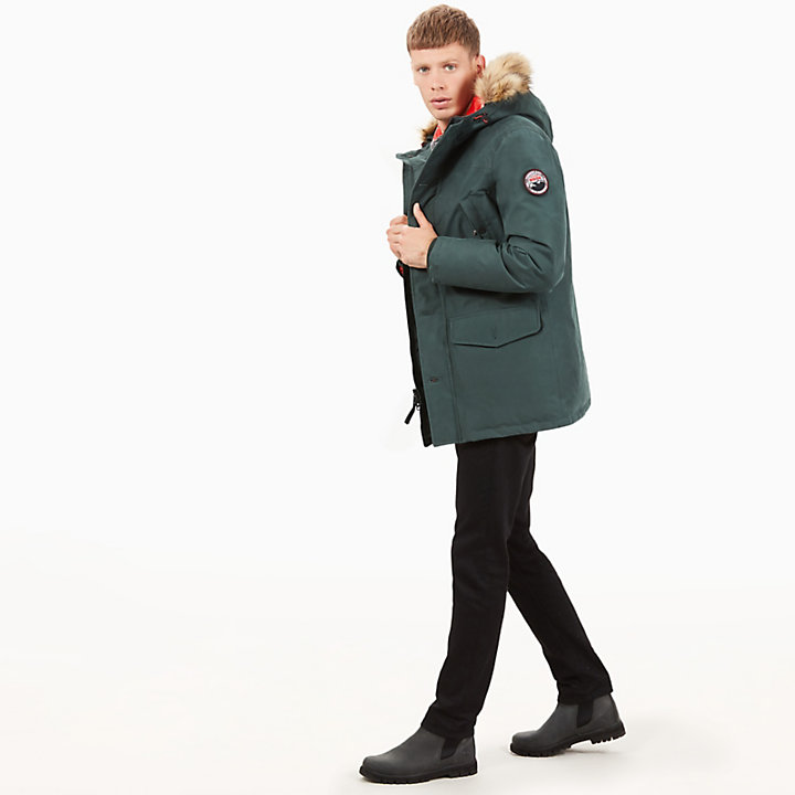 Scar Ridge Parka for Men in Dark Green-