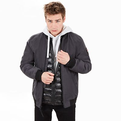 Scar+Ridge+Bomber+Jacket+for+Men+in+Dark+Grey