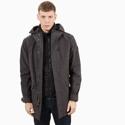Fishtail+3-In-1+Parka+voor+Heren+in+Donkergrijs
