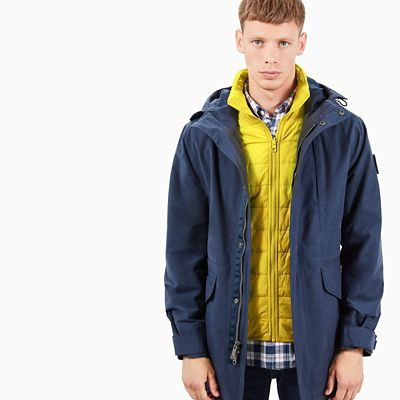 Fishtail+3-In-1+Parka+voor+Heren+in+Marineblauw