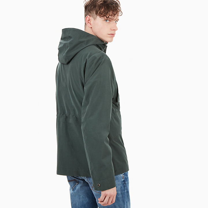 Mount Clay Raincoat for Men in Dark Green-